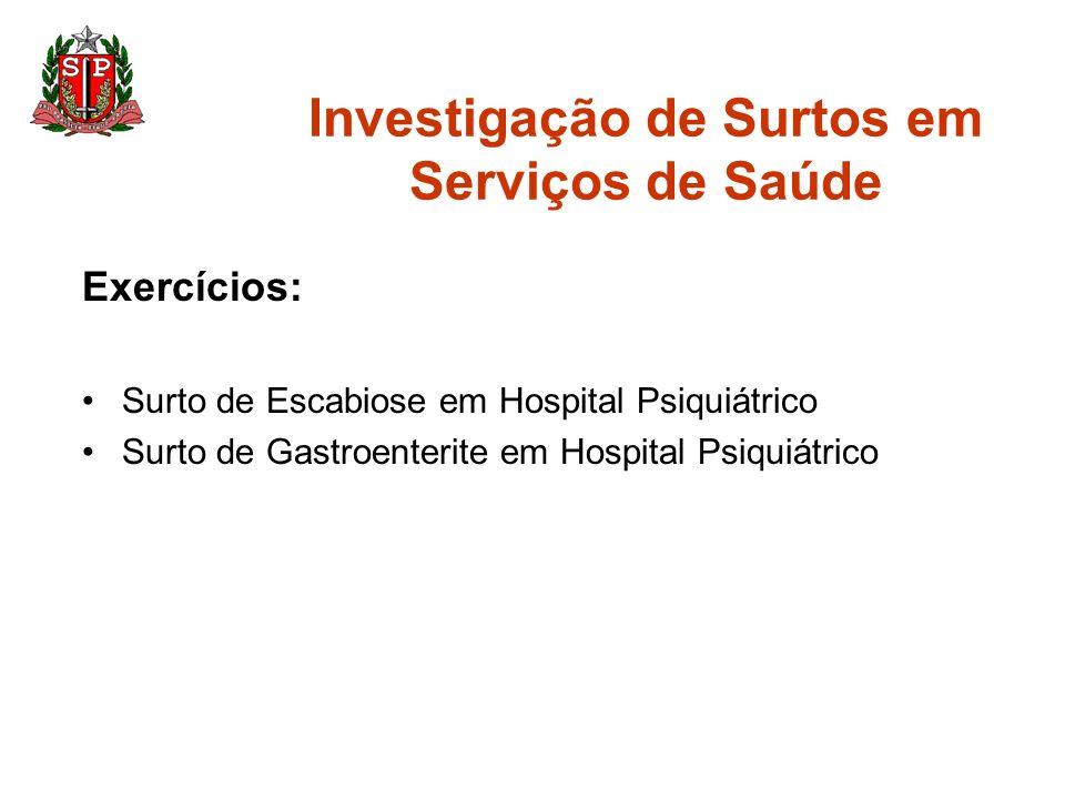 Investigação de Surtos em Serviços de Saúde