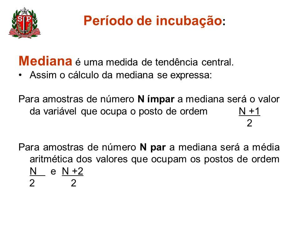 Mediana é uma medida de tendência central.