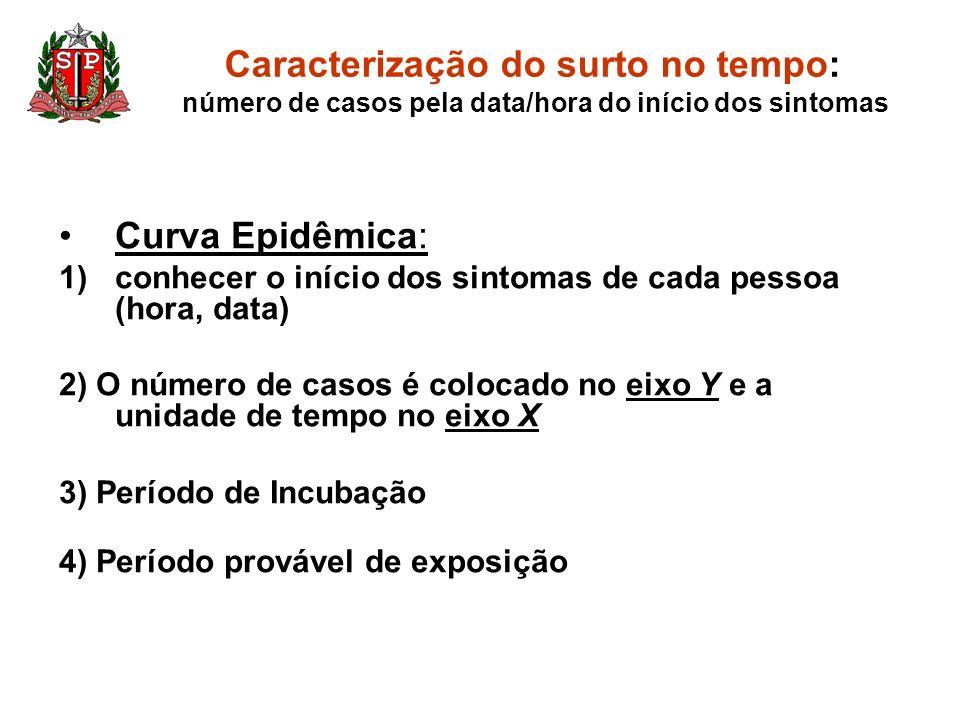 Caracterização do surto no tempo: número de casos pela data/hora do início dos sintomas