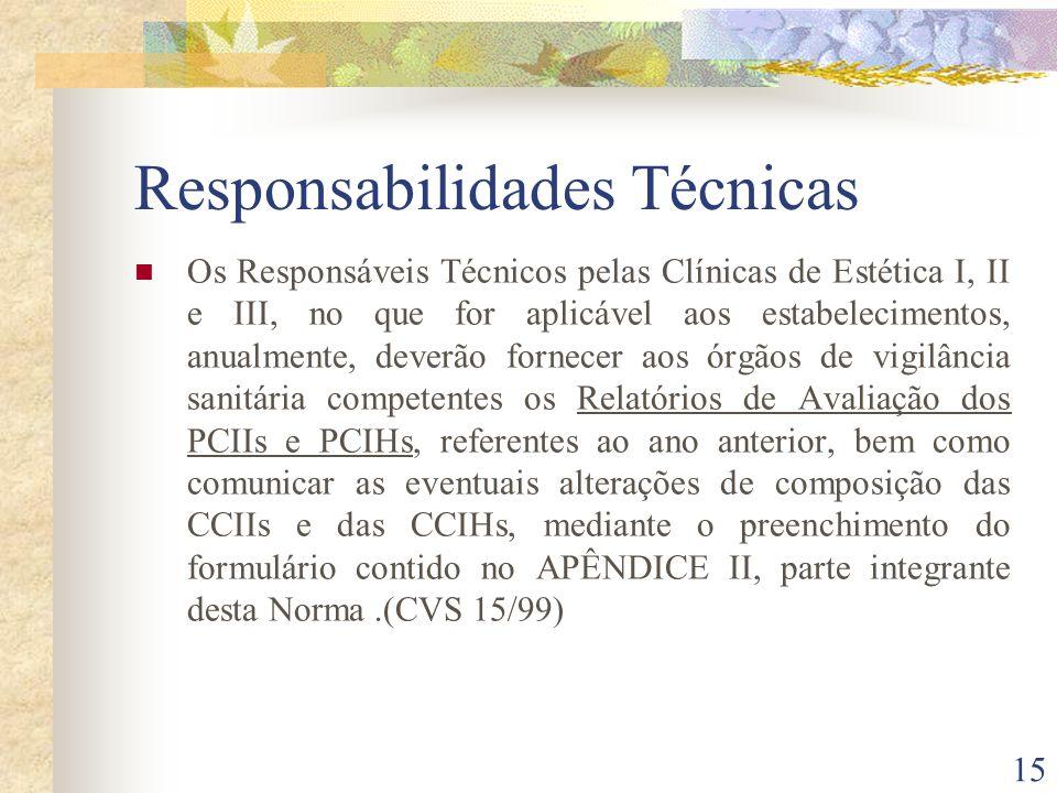 Responsabilidades Técnicas