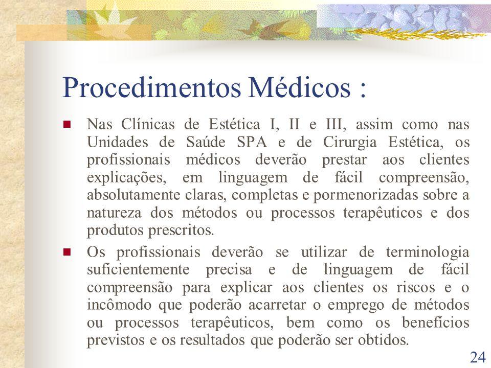 Procedimentos Médicos :
