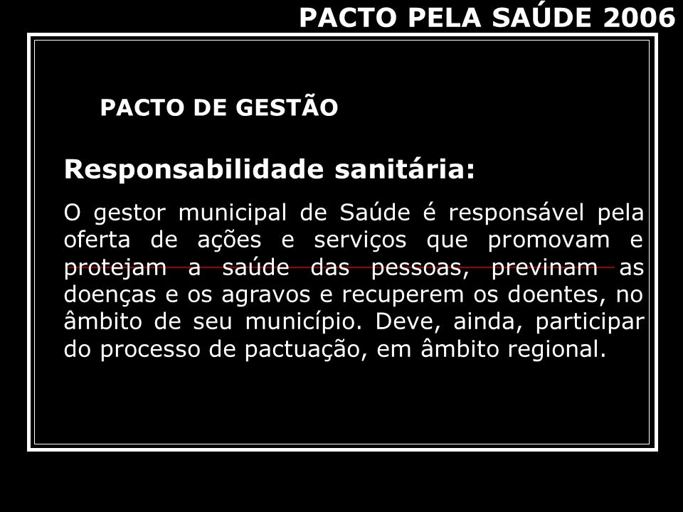 Responsabilidade sanitária: