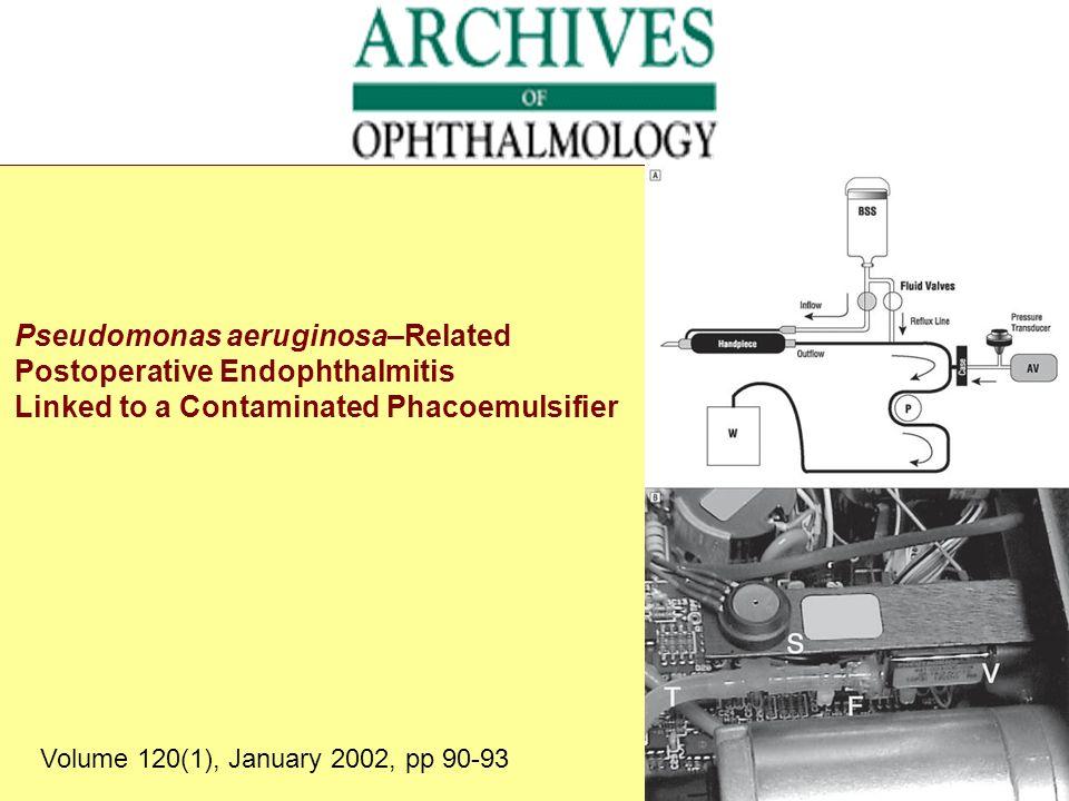 Pseudomonas aeruginosa–Related Postoperative Endophthalmitis