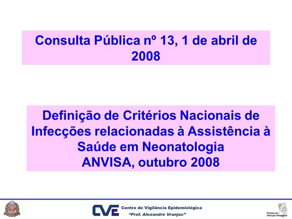 Consulta Pública nº 13, 1 de abril de 2008