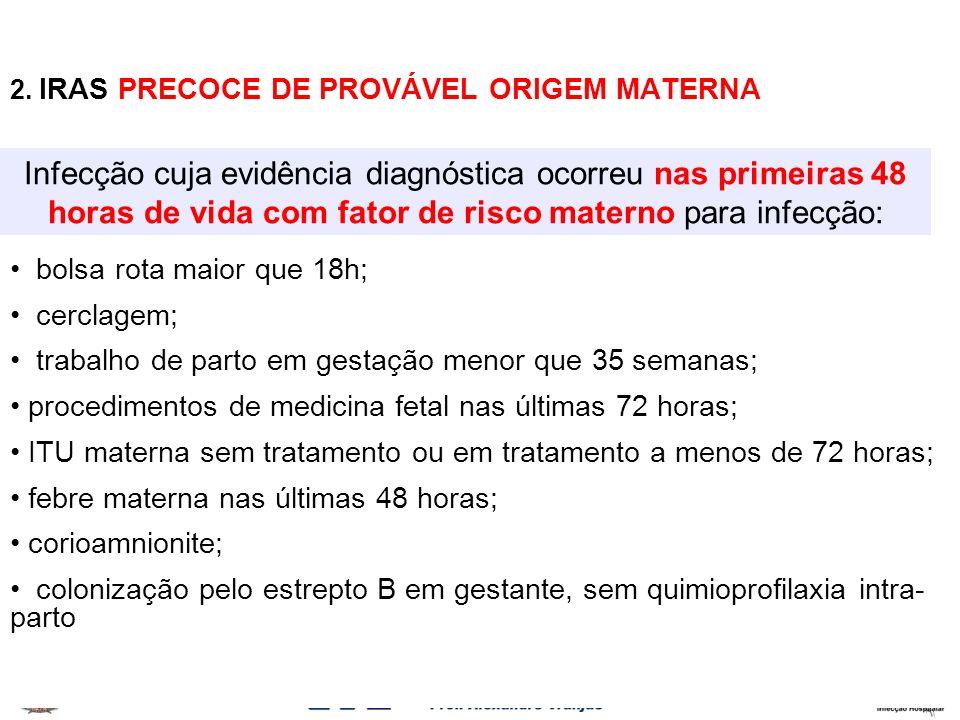 2. IRAS PRECOCE DE PROVÁVEL ORIGEM MATERNA