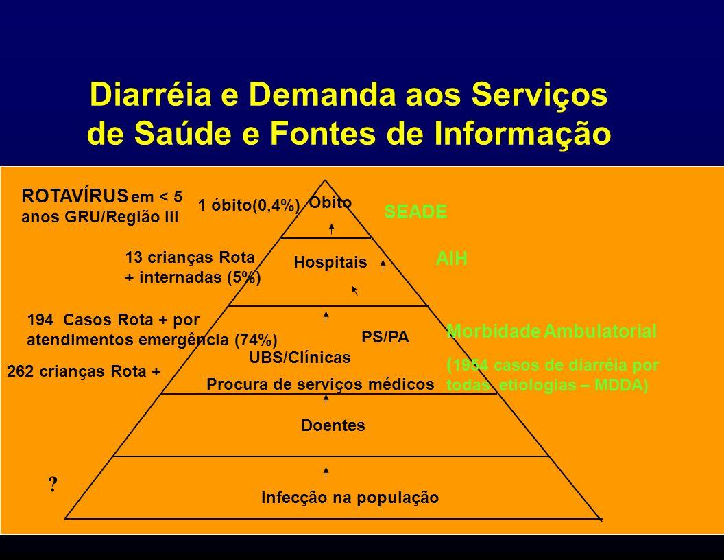 Diarréia e Demanda aos Serviços de Saúde e Fontes de Informação