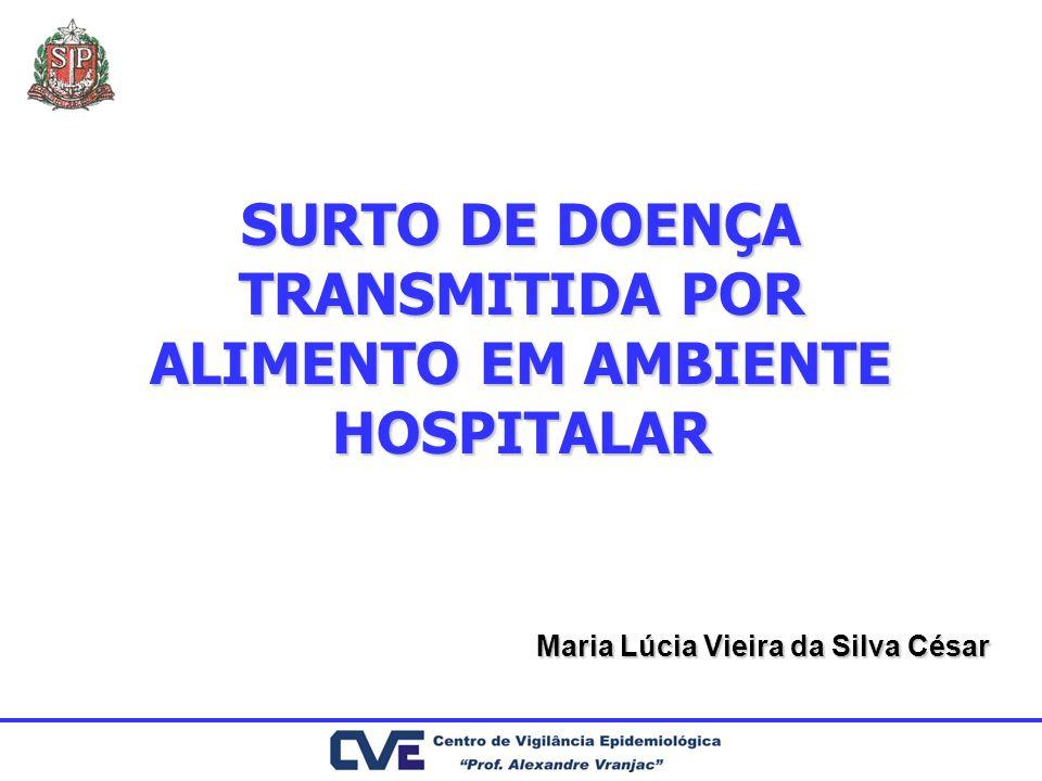 SURTO DE DOENÇA TRANSMITIDA POR ALIMENTO EM AMBIENTE HOSPITALAR