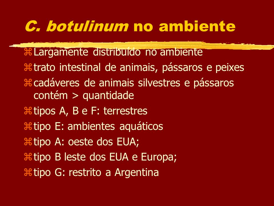 C. botulinum no ambiente