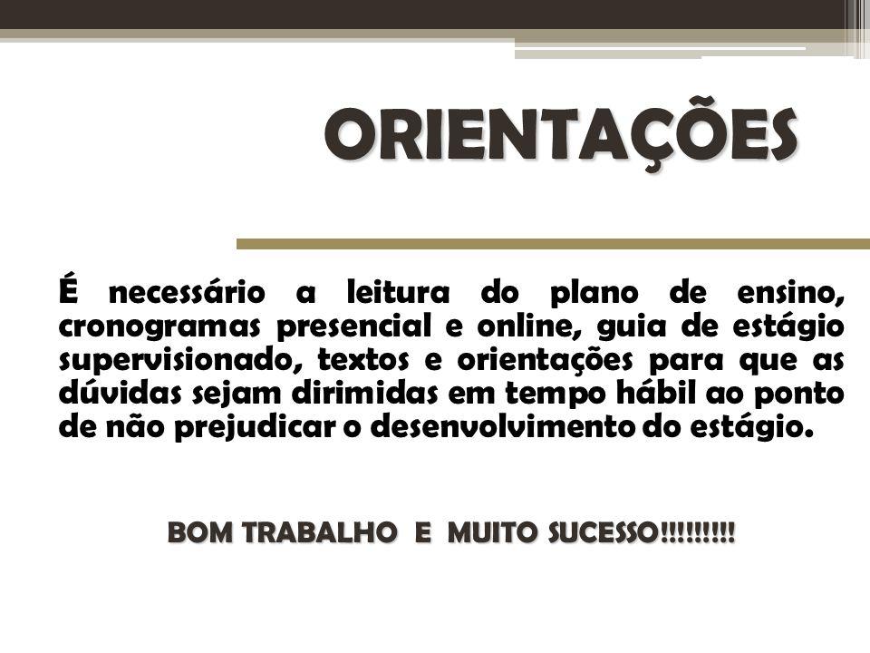 BOM TRABALHO E MUITO SUCESSO!!!!!!!!!