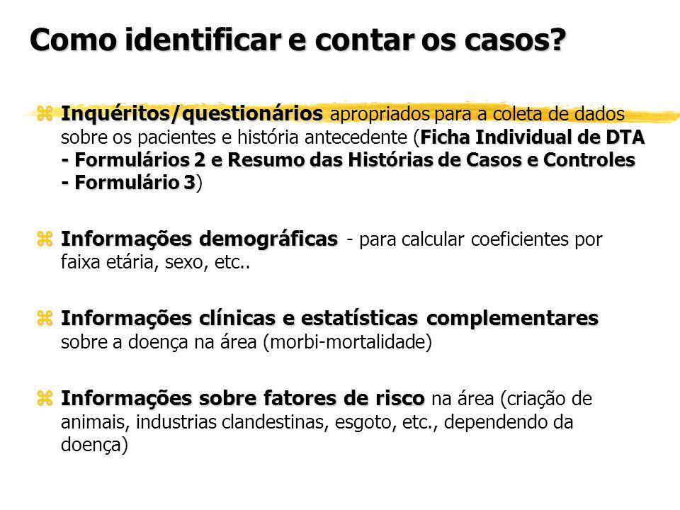 Como identificar e contar os casos