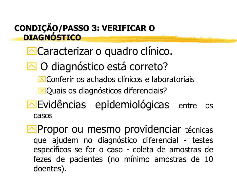 Caracterizar o quadro clínico. O diagnóstico está correto