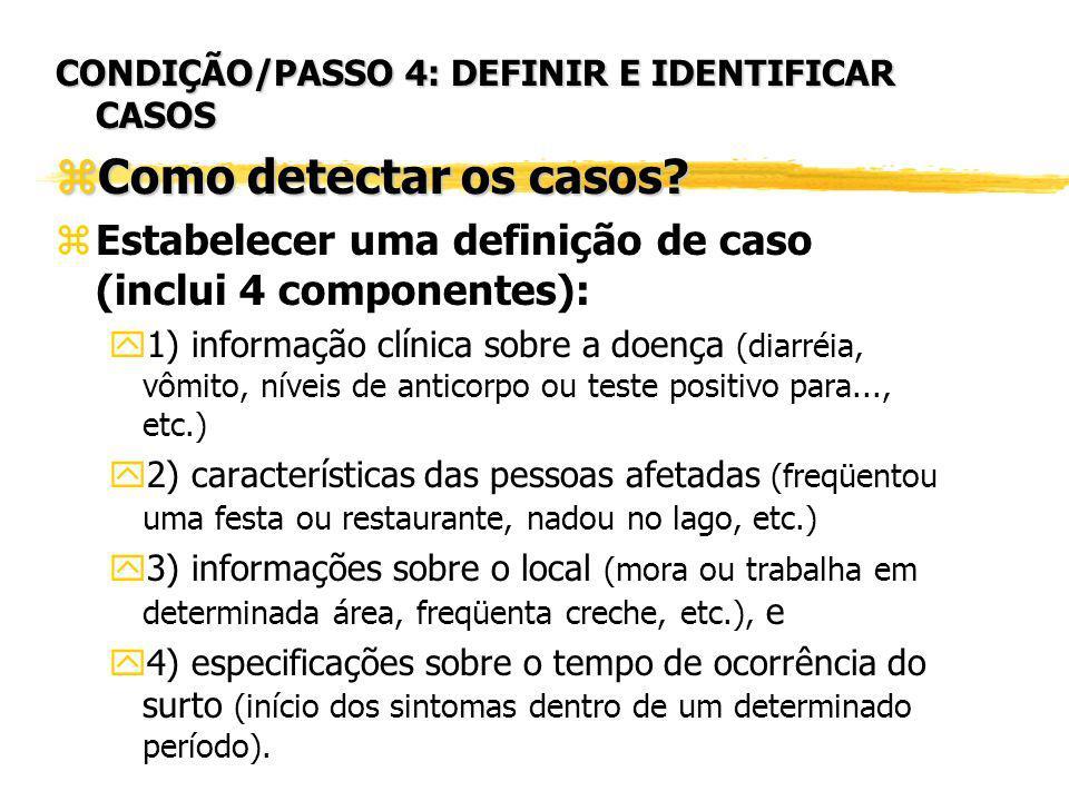 CONDIÇÃO/PASSO 4: DEFINIR E IDENTIFICAR CASOS
