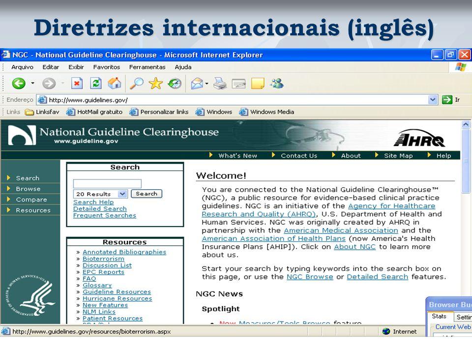 Diretrizes internacionais (inglês)