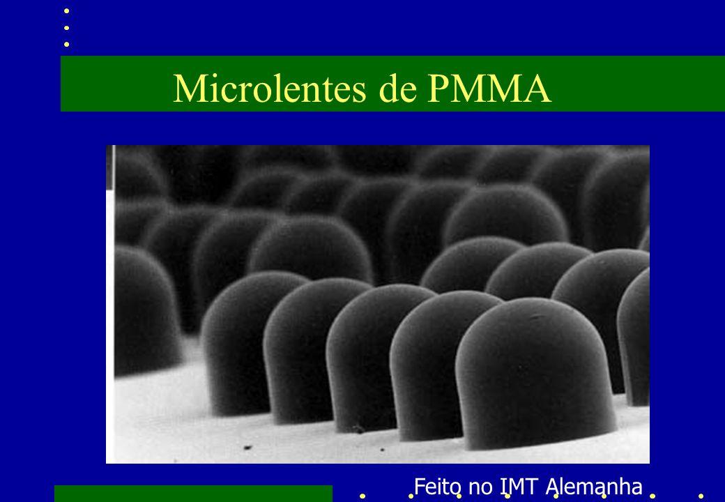 Microlentes de PMMA Feito no IMT Alemanha