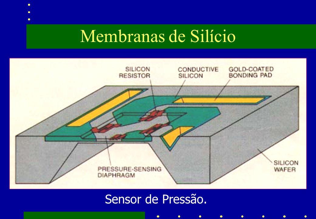 Membranas de Silício Sensor de Pressão.