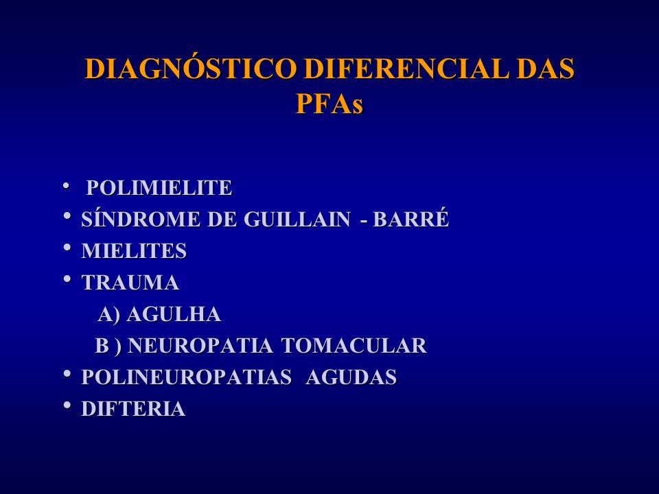 DIAGNÓSTICO DIFERENCIAL DAS PFAs