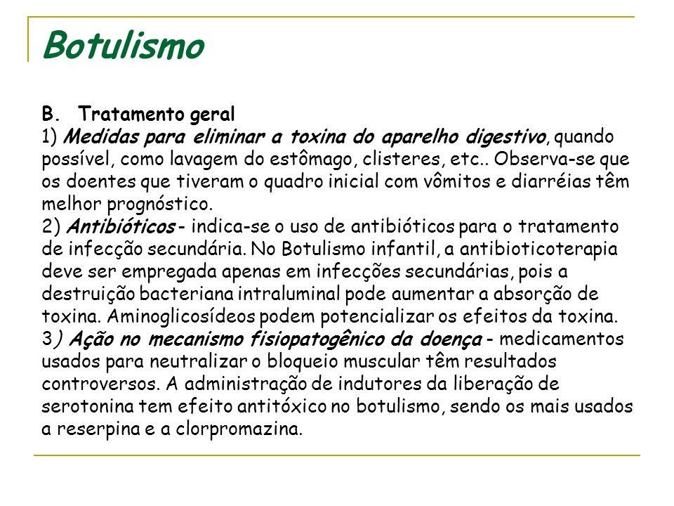 Botulismo B. Tratamento geral