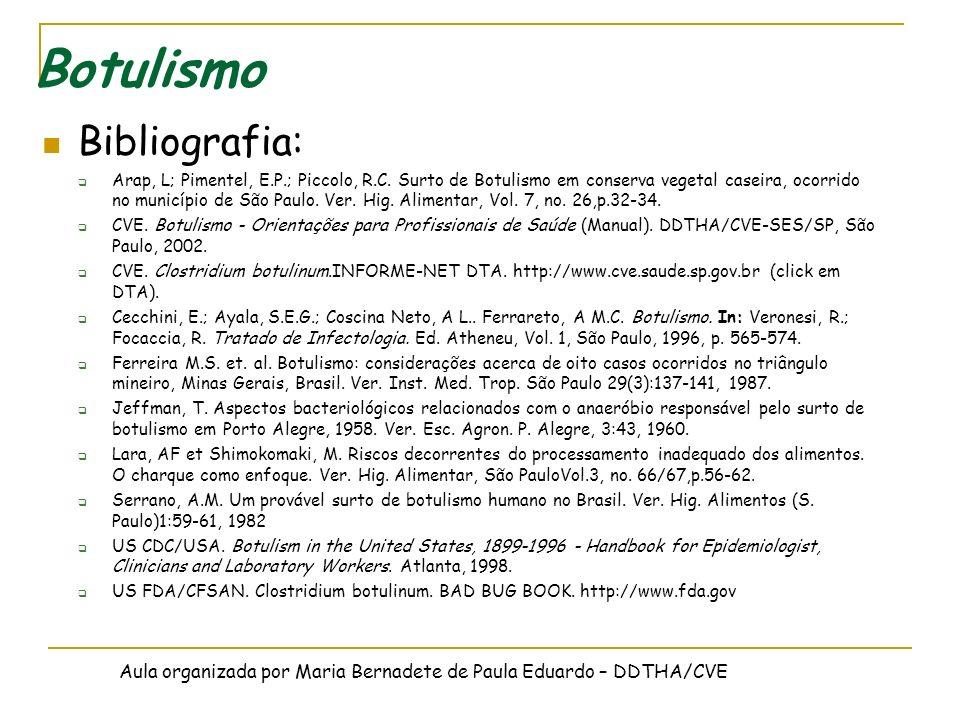 Botulismo Bibliografia: