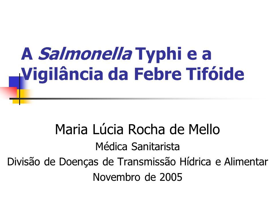 A Salmonella Typhi e a Vigilância da Febre Tifóide