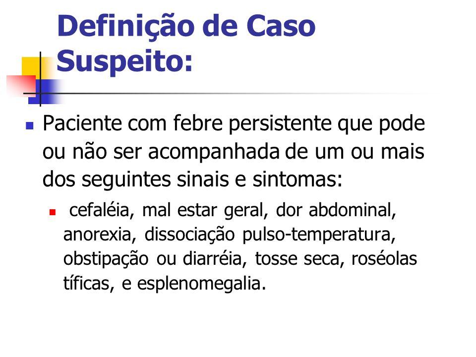 Definição de Caso Suspeito: