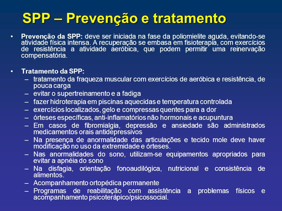 SPP – Prevenção e tratamento