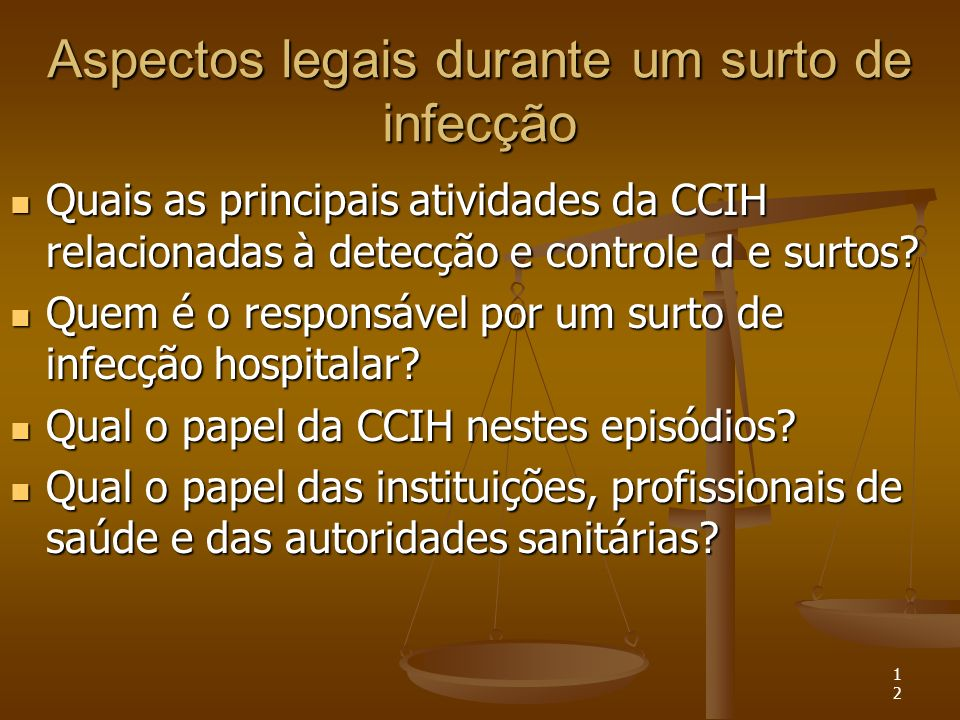 Aspectos legais durante um surto de infecção