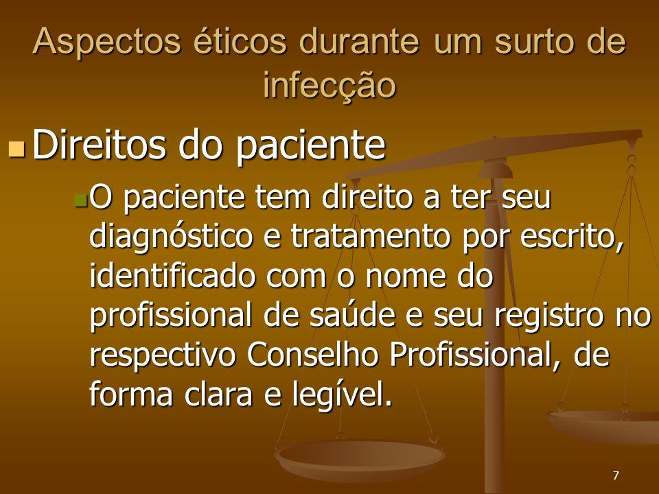 Aspectos éticos durante um surto de infecção