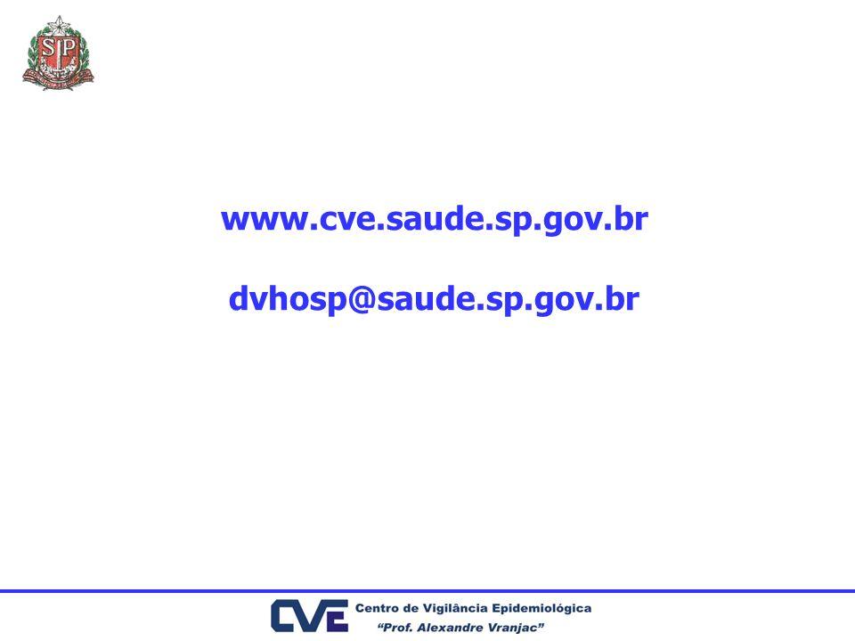 www.cve.saude.sp.gov.br dvhosp@saude.sp.gov.br
