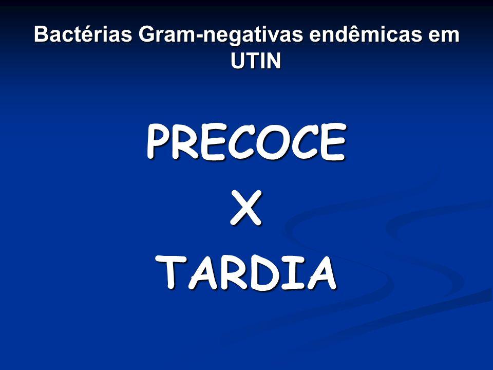 Bactérias Gram-negativas endêmicas em UTIN