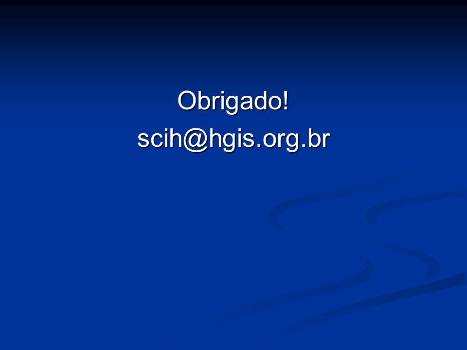 Obrigado! scih@hgis.org.br