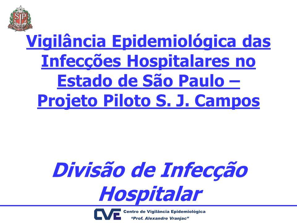 Vigilância Epidemiológica das Infecções Hospitalares no Estado de São Paulo – Projeto Piloto S.
