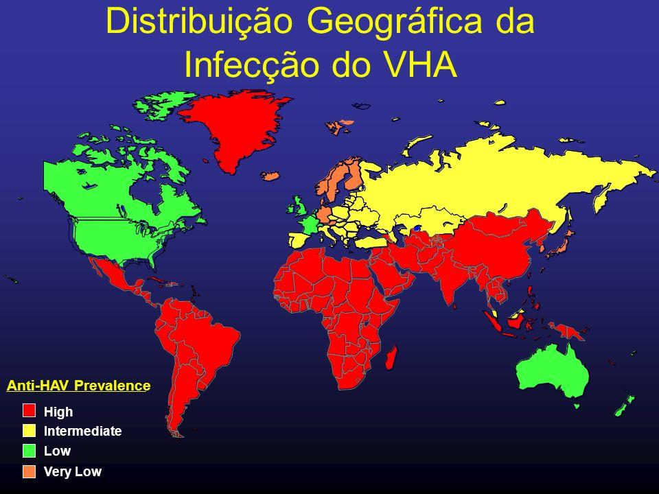 Distribuição Geográfica da Infecção do VHA