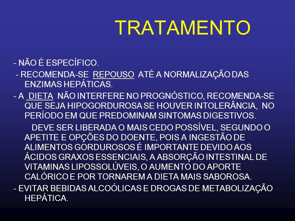TRATAMENTO - NÃO É ESPECÍFICO.