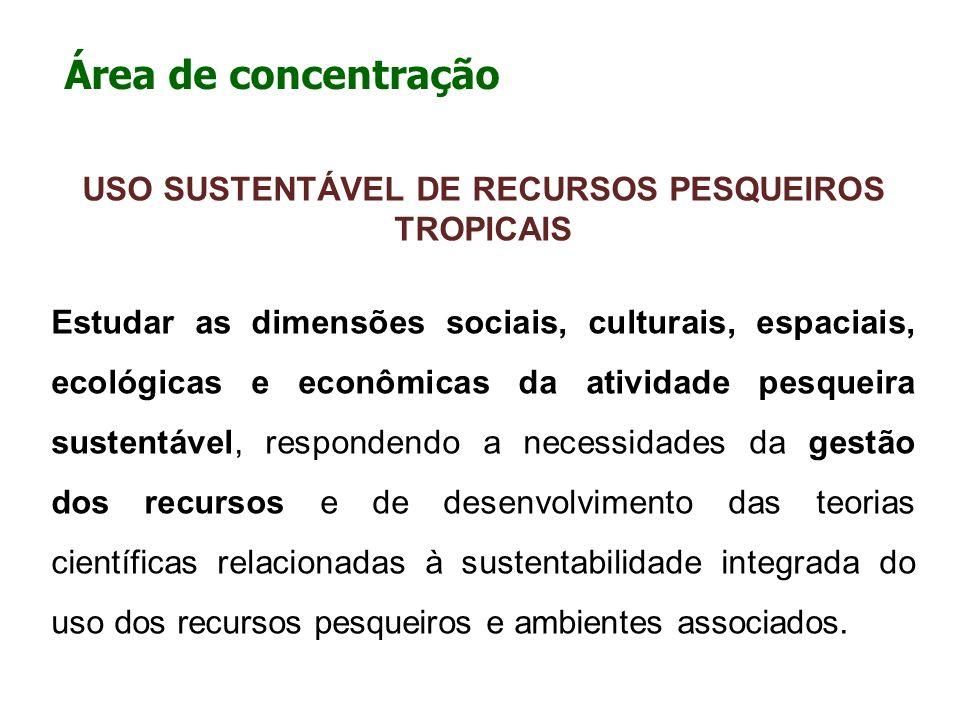 USO SUSTENTÁVEL DE RECURSOS PESQUEIROS TROPICAIS