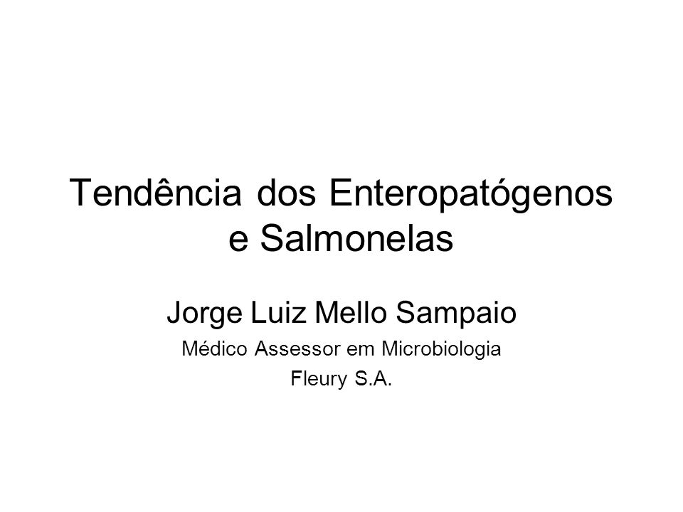 Tendência dos Enteropatógenos e Salmonelas