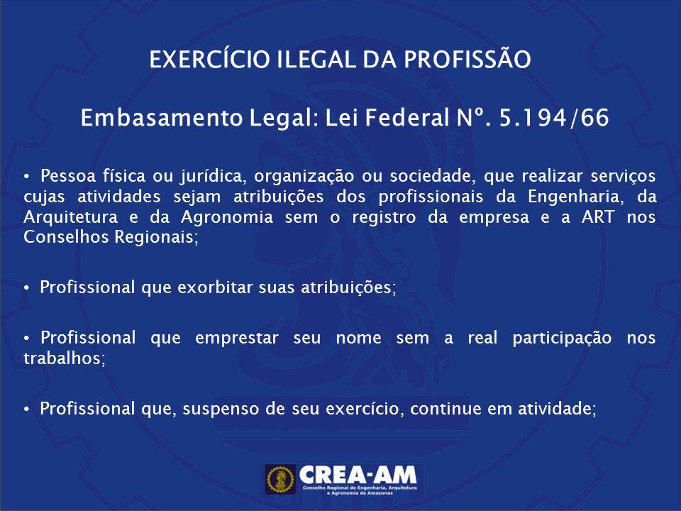 EXERCÍCIO ILEGAL DA PROFISSÃO