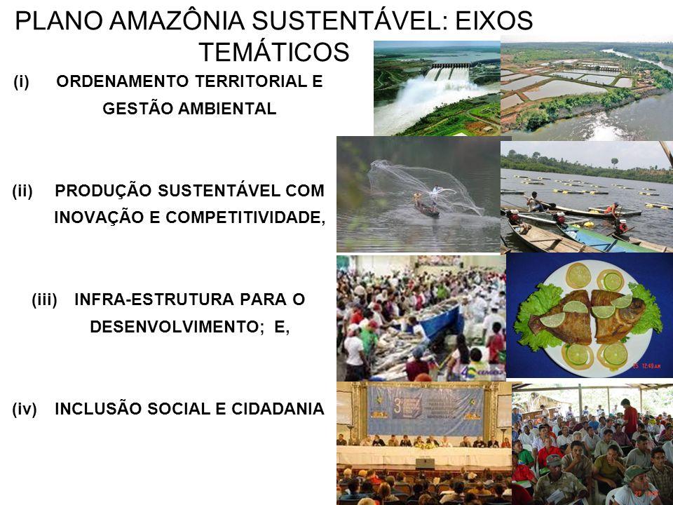 PLANO AMAZÔNIA SUSTENTÁVEL: EIXOS TEMÁTICOS