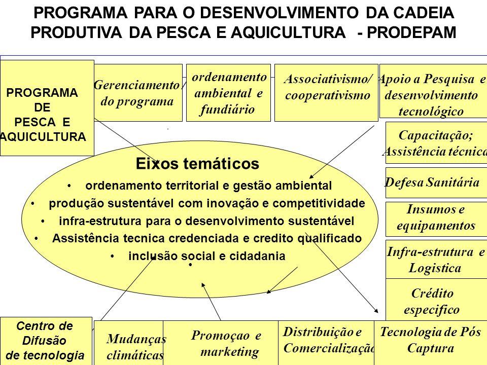 PROGRAMA PARA O DESENVOLVIMENTO DA CADEIA PRODUTIVA DA PESCA E AQUICULTURA - PRODEPAM