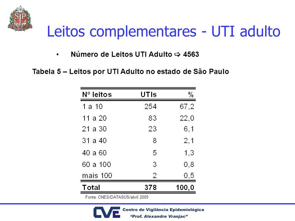 Leitos complementares - UTI adulto