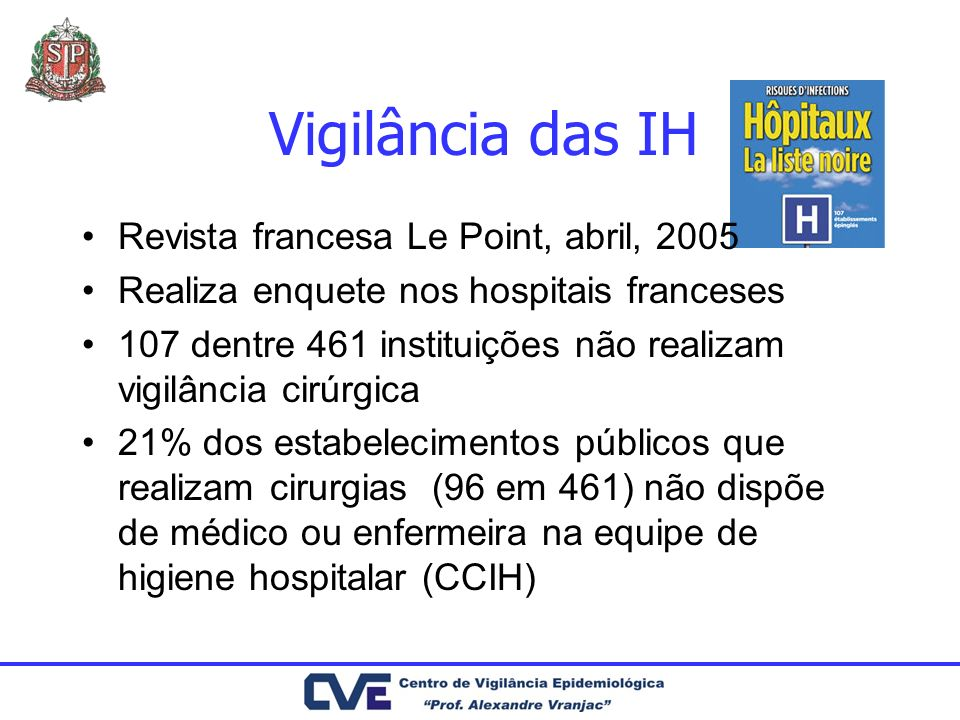 Vigilância das IH Revista francesa Le Point, abril, 2005