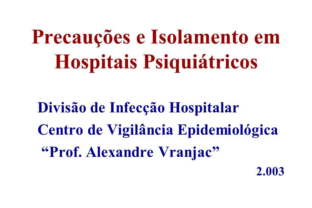 Precauções e Isolamento em Hospitais Psiquiátricos