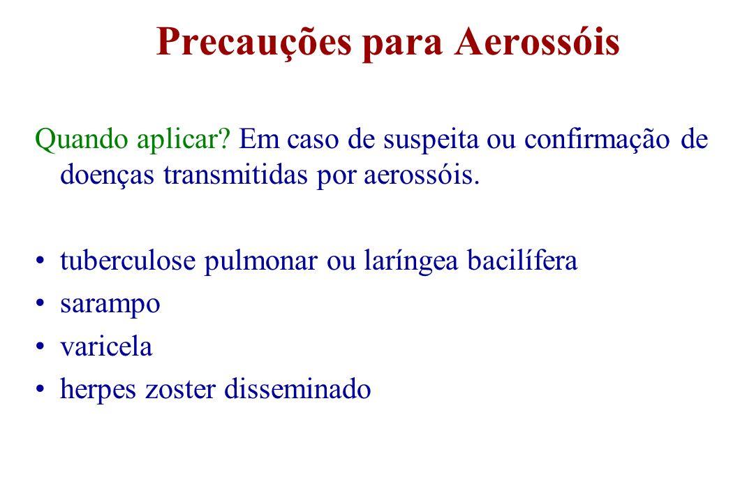 Precauções para Aerossóis