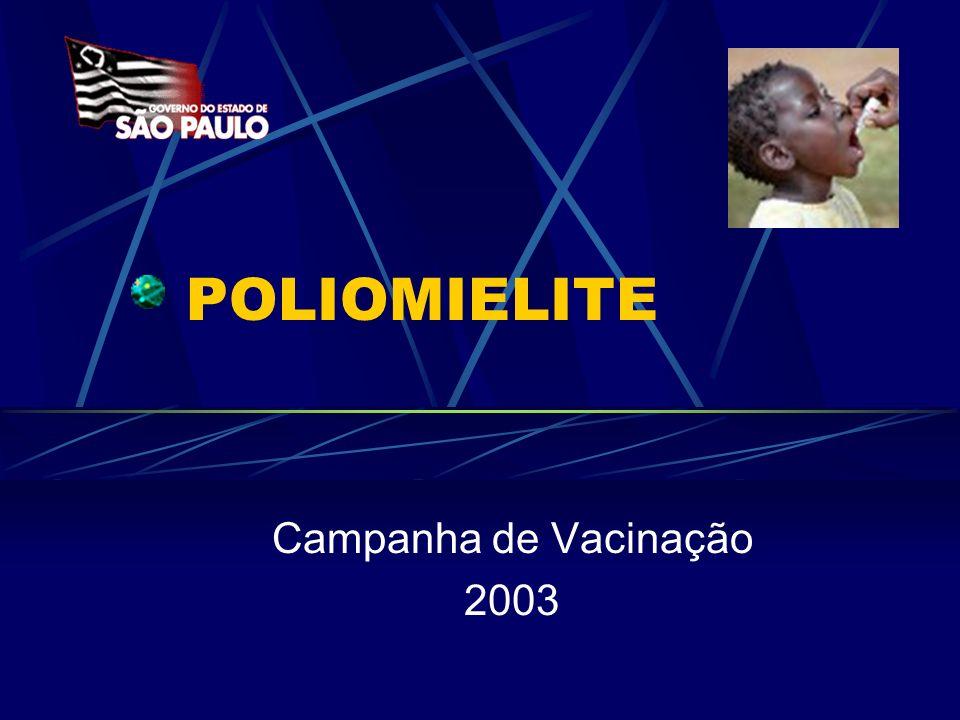 POLIOMIELITE Campanha de Vacinação 2003