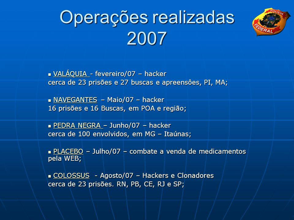 Operações realizadas 2007 VALÁQUIA - fevereiro/07 – hacker