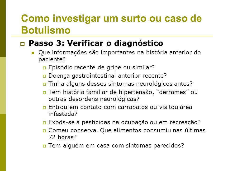Como investigar um surto ou caso de Botulismo