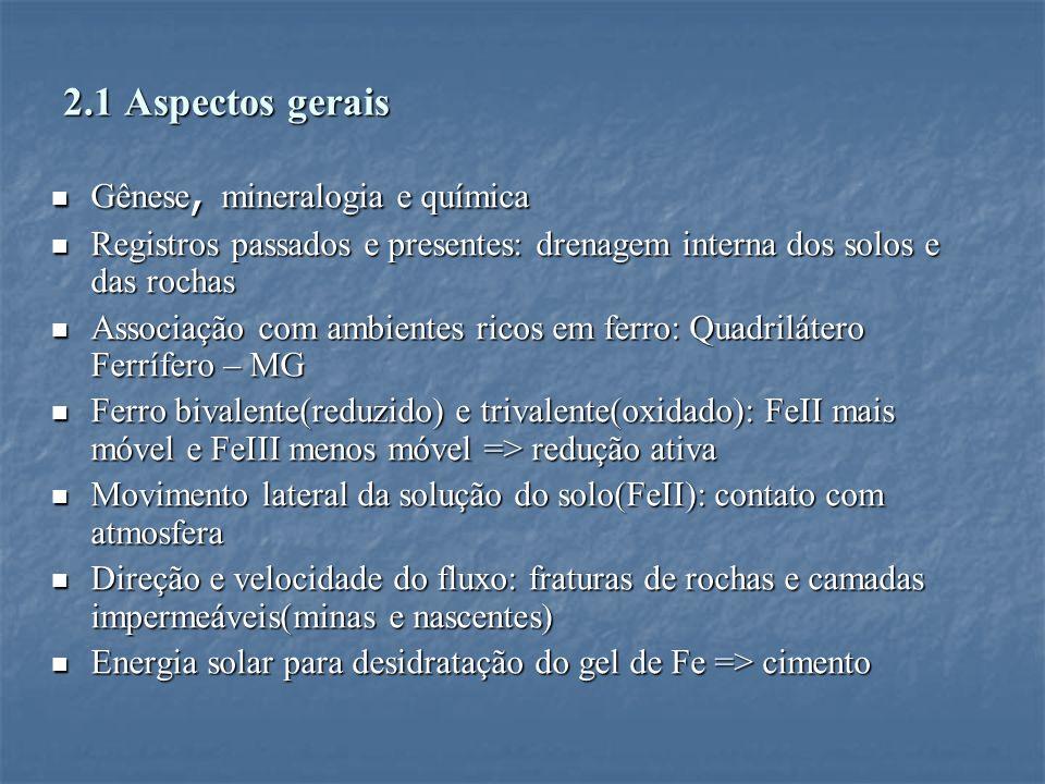 2.1 Aspectos gerais Gênese, mineralogia e química
