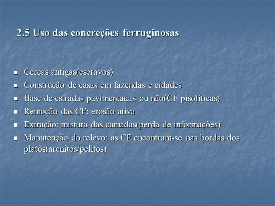 2.5 Uso das concreções ferruginosas