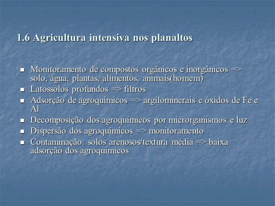 1.6 Agricultura intensiva nos planaltos