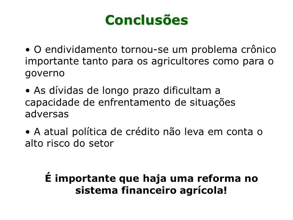 É importante que haja uma reforma no sistema financeiro agrícola!