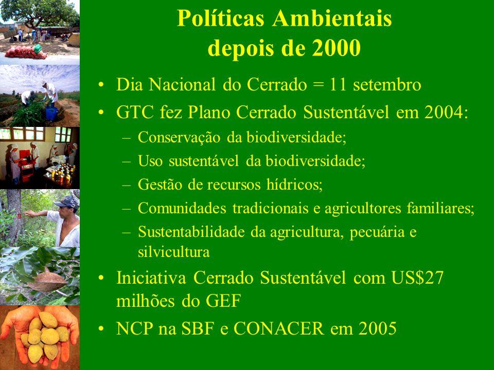 Políticas Ambientais depois de 2000